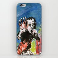 nick cave iPhone & iPod Skins featuring Nick Cave Red Right Hand by Caitlyn Shea