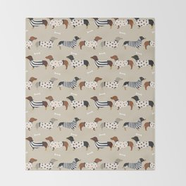 Dachshund doxie sweaters cute dog gifts dog breed dachsie owners must haves Throw Blanket