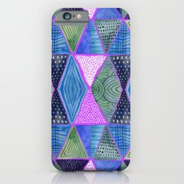 Patterned Mosaic Triangles iPhone Case
