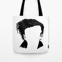 matty healy Tote Bags featuring Matt Healy Silhuette Drawing by summergirl