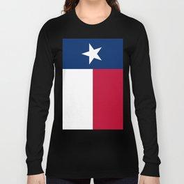 Texas state flag, High Quality Vertical Banner Long Sleeve T-shirt