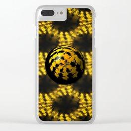 3d Fractal Ball Clear iPhone Case