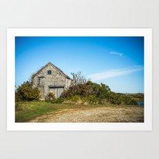 Farm House On the Island Art Print