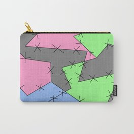 Freestyle Stitches - Gray, Pink, Green Carry-All Pouch