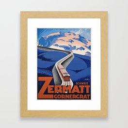 Vintage poster - Zermatt Framed Art Print