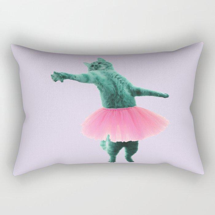 ballerina Cat Rectangular Pillow