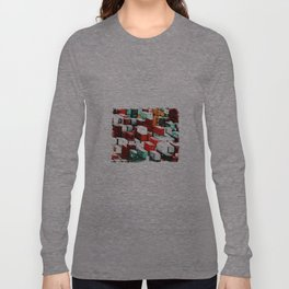 Mint Red Shipping Containers  Long Sleeve T-shirt