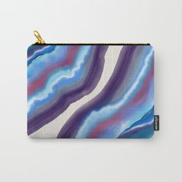 Violet purple agate Carry-All Pouch