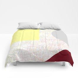 Wine & Cheese Geometric Sparkle Comforters