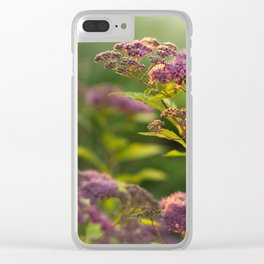 Blooming Spirea Clear iPhone Case