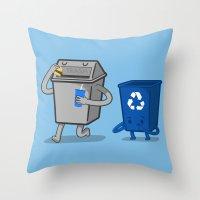 junk food Throw Pillows featuring Junk Food Diet by Jake Friedman