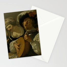 "Dirck van Baburen ""A duet"" Stationery Cards"