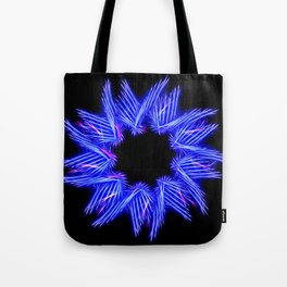 Electric Blue Enneagram Star Tote Bag