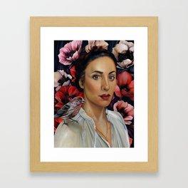 Among the Poppies Framed Art Print