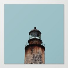 Lonely Old Lighthouse - Pale Blue Gray Canvas Print