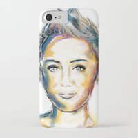 miley cyrus iPhone & iPod Cases featuring Miley Cyrus by caffeboy
