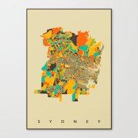 sydney Canvas Prints featuring Sydney by Nicksman