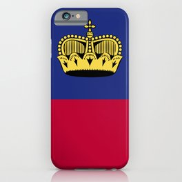 Liechtenstein flag emblem iPhone Case
