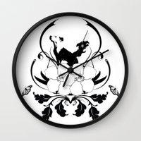 wreck it ralph Wall Clocks featuring Ralph by neil parrish