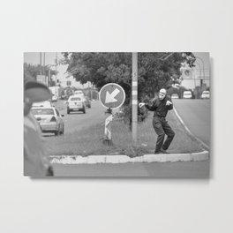 mime traffic light performance Metal Print