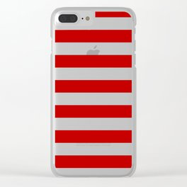 Red Stripes Clear iPhone Case