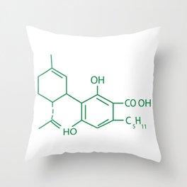 Cannabis Chemistry: CBD Throw Pillow