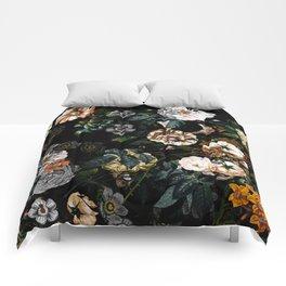 Floral Night Garden Comforters