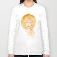 enjolras Long Sleeve T-shirts featuring Eyes of a leader by Elnawen