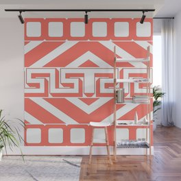 GEOMETRIC PATTERN IN LIVING CORAL Wall Mural
