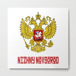 Russia TShirt Russian Shirt Nizhny Novgorod T Shirt Russian Flag Metal Print