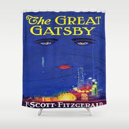 The Great Gatsby vintage book cover - Fitzgerald Shower Curtain