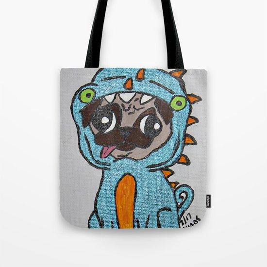 Dino-Pug Tote Bag