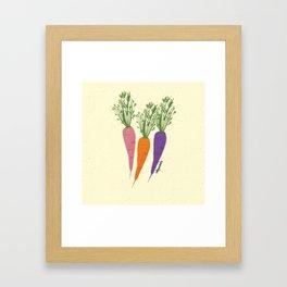 Zanahorias Framed Art Print