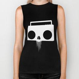 Boombox Skull (Black & White) Biker Tank