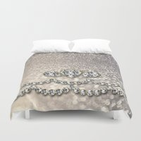 bisexual Duvet Covers featuring Diamonds and sparkles I by Better HOME