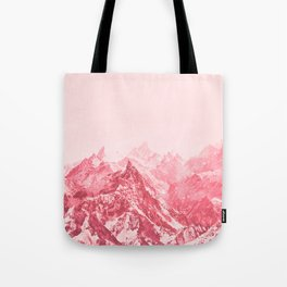 Mountains Red Tote Bag