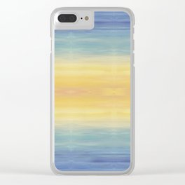 Sunset Fading Light Clear iPhone Case