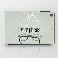 glasses iPad Cases featuring Glasses by Julia Dávila-Lampe