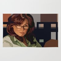 battlestar Area & Throw Rugs featuring Battlestar Galactica : Mary McDonnell by Grace Teaney Art