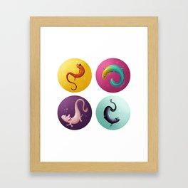 Newt Party! Framed Art Print