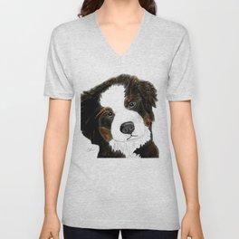 Bernese Mountain Dog Love Unisex V-Neck