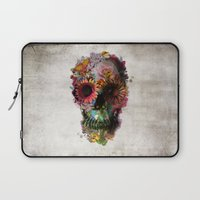 elephant Laptop Sleeves featuring SKULL 2 by Ali GULEC