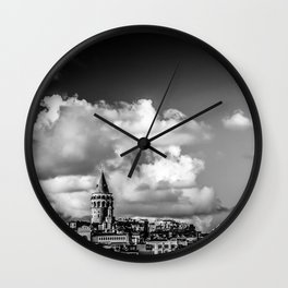 Istanbul: A Fusion of Black and White Wall Clock