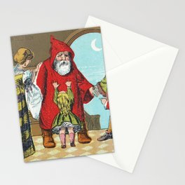 Father Christmas and His Little Friend no6 (1880) by Marcus Ward  Co Stationery Cards