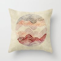 sunrise Throw Pillows featuring Sunrise by rskinner1122