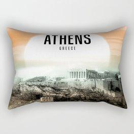 Athens Wallpaper Rectangular Pillow