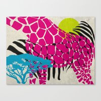 africa Canvas Prints featuring africa by cla.sto