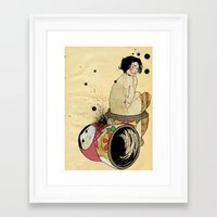 russian Framed Art Prints featuring Russian Doll by ODDITY