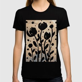 Whimsical watercolor flowers – neutral T-shirt