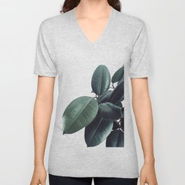 Ficus Elastica #13 #decor #art #society6 Unisex V-Neck